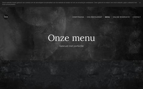 Screenshot of Menu Page lacaverestaurant.be - Menu :: Lacaverestaurant - captured Dec. 6, 2018