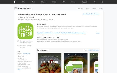 HelloFresh – Healthy Food & Recipes Delivered on the App Store