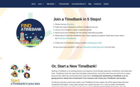 Screenshot of Signup Page timebanks.org - Join a TimeBank | TimeBanks USA - captured Sept. 24, 2018