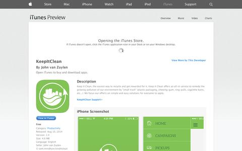 Screenshot of iOS App Page apple.com - KeepItClean on the App Store on iTunes - captured Oct. 29, 2014