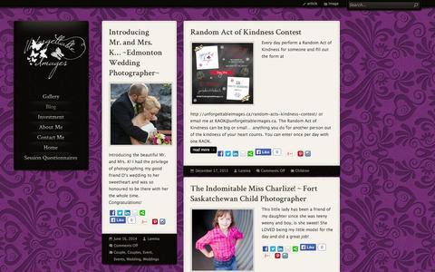 Screenshot of Blog unforgettableimages.ca - Unforgettable Images Blog | Unforgettable Images - captured Oct. 27, 2014