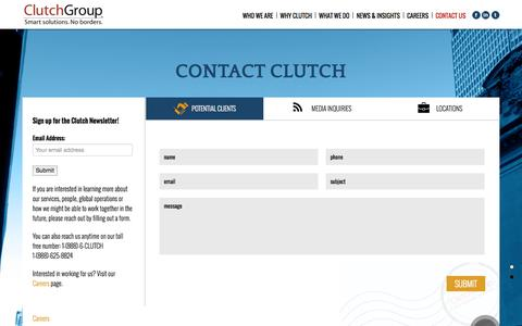 Screenshot of Locations Page clutchgroup.com - Contact Clutch | Clutch Group - captured Oct. 28, 2014