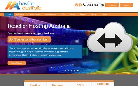 Screenshot of Home Page hosting-australia.com - Web Hosting Australia | Website Hosting in Australia - captured May 4, 2017