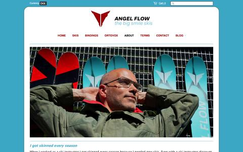 Screenshot of About Page angelflow.me - About ANGEL FLOW - captured Dec. 25, 2015