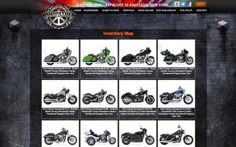 Screenshot of Site Map Page woodstockharley.com - Inventorymap   Woodstock Harley-Davidson®   Kingston New York - captured Oct. 7, 2014