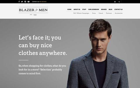 Screenshot of About Page blazerformen.com - About Us - Blazer For Men - captured Jan. 6, 2016