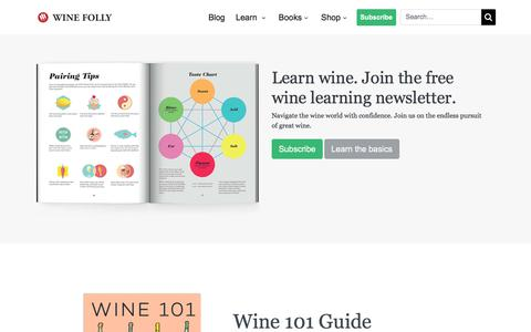 Screenshot of Home Page winefolly.com - Wine Folly | Learn about Wine - captured Sept. 11, 2019
