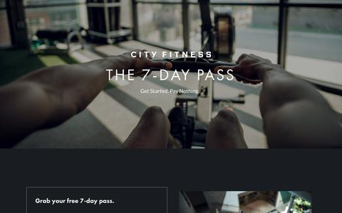 Screenshot of Trial Page cityfitnessphilly.com - City Fitness Free Trial - captured Sept. 28, 2018