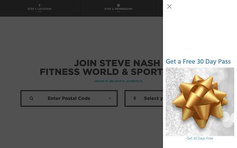 Screenshot of Signup Page snclubs.com - Membership Online Purchase Steve Nash Fitness World - captured Dec. 3, 2017