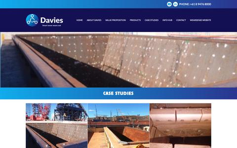 Screenshot of Case Studies Page davieswps.com - Case Studies - Davies Wear Plate Systems - captured Nov. 13, 2018
