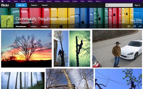 Screenshot of Flickr Page flickr.com - Flickr: Community Tree Preservation's Photostream - captured Oct. 23, 2014
