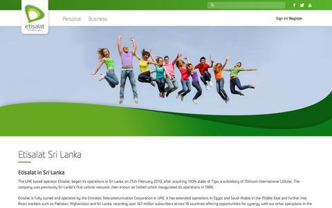 Screenshot of About Page etisalat.lk - About Us – Etisalat Sri Lanka - captured Aug. 26, 2017
