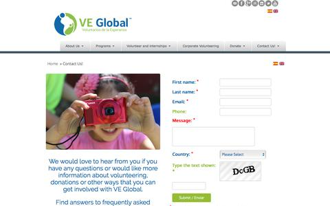 Screenshot of Contact Page ve-global.org - VE Global | Contact Us! - captured July 20, 2019