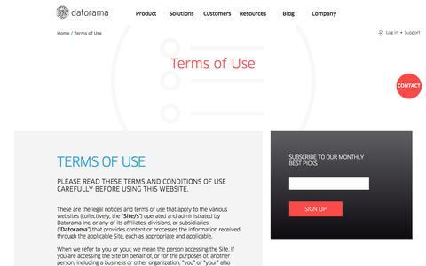Terms of Use - Datorama