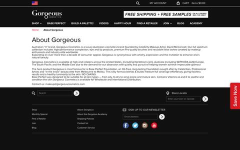 Screenshot of About Page gorgeouscosmetics.com - About Gorgeous - captured Dec. 12, 2015