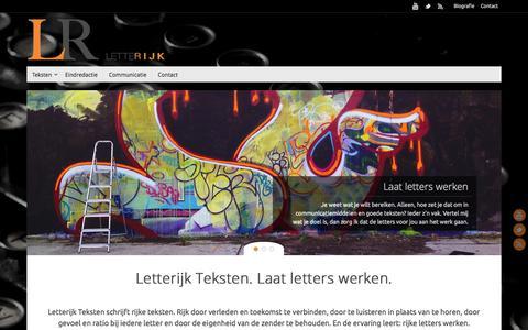 Screenshot of Home Page letterijk.nl - www.letterijk.nl | laat letters werken - captured Oct. 2, 2014