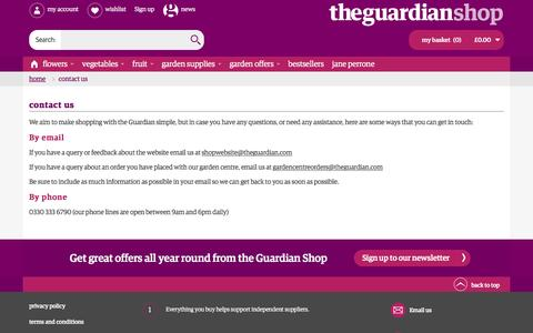 Screenshot of Contact Page theguardian.com - Contact Us - captured Aug. 28, 2016
