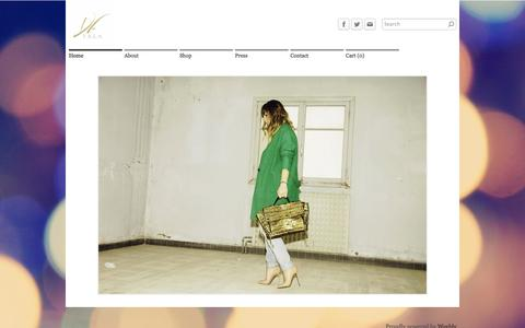Screenshot of Home Page designsbytala.com - Designs by Tala - Home - captured Sept. 30, 2014