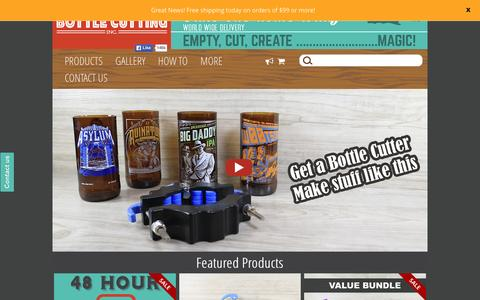 Screenshot of Home Page bottlecutting.com - The Kinkajou Bottle Cutter is easy and fun to use. - captured Dec. 4, 2015