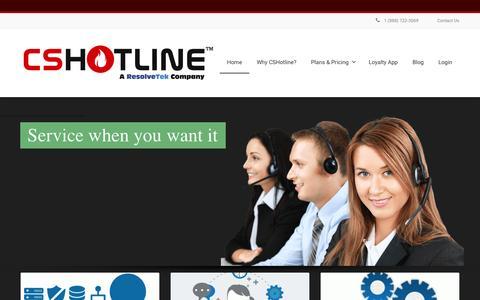 Screenshot of Home Page cshotline.com - CSHotline.com   Grow your Computer Repair Business Rapidly ! - captured Jan. 23, 2016