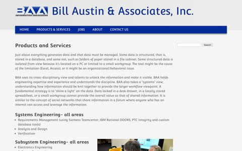 Products and Services | Bill Austin & Associates, Inc.