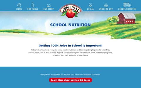 Apple & Eve - School Nutrition - Bid Specifications