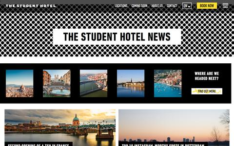 Screenshot of Press Page thestudenthotel.com - The Student Hotel: News and Blogs - captured July 17, 2018