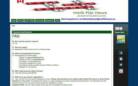 Screenshot of FAQ Page google.com - FAQ - Work Flex Hours - captured Oct. 26, 2014