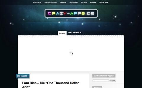Screenshot of Home Page crazy-apps.de - Die neuesten, verrückten Smartphone Apps für Android und iOS   Crazy-Apps.de - captured Sept. 25, 2014