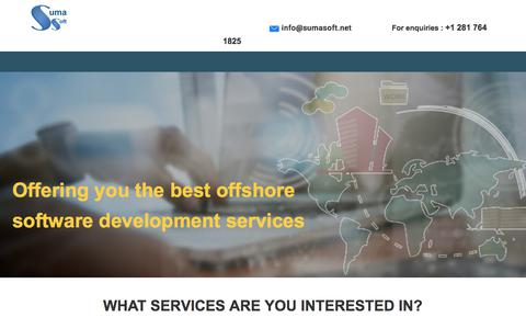Screenshot of Landing Page sumasoft.com - Providing Offshore Software Development Services in USA for 17+ Years - captured June 30, 2017