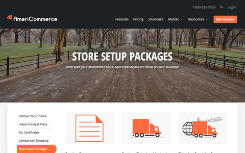 Screenshot of Services Page americommerce.com - Shopping Cart Setup - How To Setup a Shopping Cart - Setup a Shopping Cart - captured Sept. 18, 2014