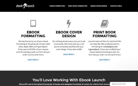 Ebook Launch – Ebook Formatting and Cover Design