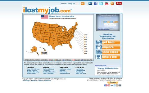 Screenshot of Maps & Directions Page ilostmyjob.com - ilostmyjob.com | What to Do After Job Loss or Lay Off - captured Oct. 6, 2014
