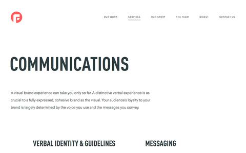 Communications Services from Focus Lab | Focus Lab | Moving Organizations Forward through Branding and Interactive Solutions