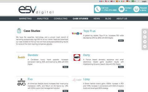 Screenshot of Case Studies Page esvdigital.com - Case Studies   ESV Digital - captured Sept. 19, 2014