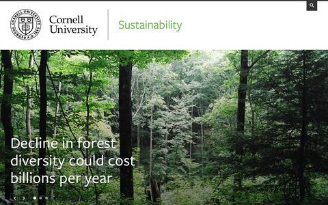 Sustainability | Cornell University