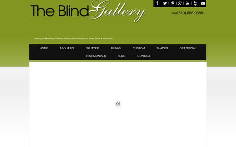 Screenshot of Menu Page blindgallerypa.com - The Blind Gallery: Professional Window Treatment Services - captured Oct. 8, 2014