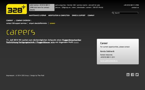 Screenshot of Jobs Page 328.eu - careers | 328.eu - captured Oct. 7, 2014