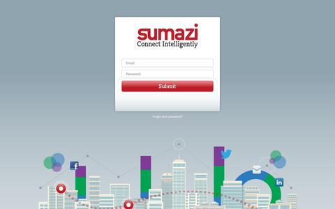 Screenshot of Login Page sumazi.com - Login - captured Feb. 25, 2016