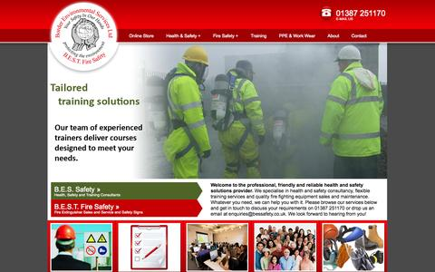 Screenshot of Home Page bessafety.co.uk - Home - BES Safety & BEST Fire Safety - captured Oct. 5, 2014