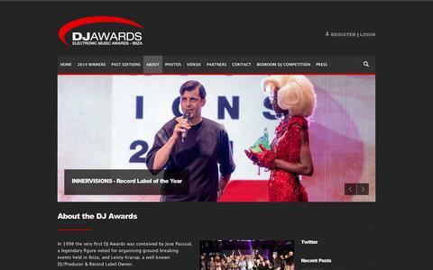 Screenshot of About Page djawards.com - DJ Awards: About the DJ Awards - captured Nov. 2, 2014