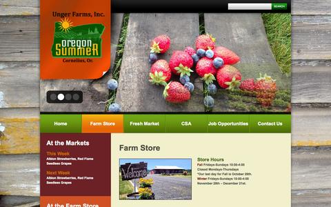 Screenshot of About Page ungerfarms.com - Farm Store  |  Unger Farms - captured Oct. 7, 2014