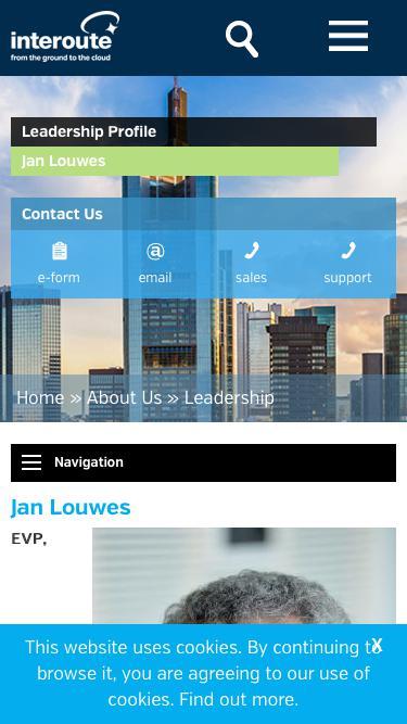 Screenshot of Team Page  interoute.com - Jan Louwes | EVP Enterprise Solutions | Interoute