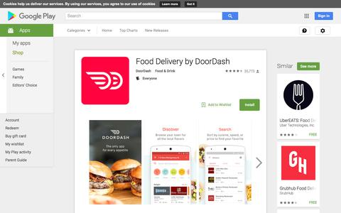 Food Delivery by DoorDash - Android Apps on Google Play