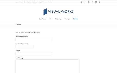 Screenshot of Contact Page visualworks.com.br - Visual Works   –  Contato - captured Oct. 25, 2014
