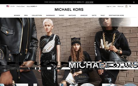 Screenshot of Home Page michaelkors.com - Michael Kors: Designer Handbags, Clothing, Watches, Shoes, And More - captured Oct. 26, 2018