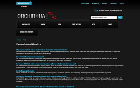 Screenshot of FAQ Page orchidhua.com - FAQ - captured Oct. 26, 2014