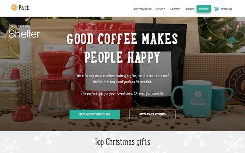 Screenshot of Home Page pactcoffee.com - Pact | Home - captured Dec. 11, 2016