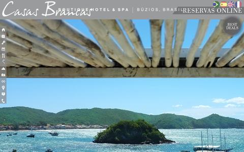 Screenshot of Home Page casasbrancas.com.br - Casas Brancas Boutique Hotel & Spa - captured Sept. 23, 2014