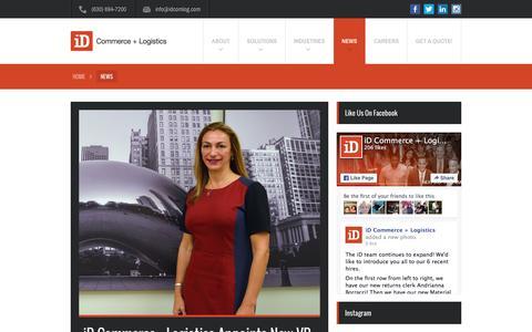 Screenshot of Press Page idcomlog.com - News - iD Commerce + Logistics - captured Feb. 11, 2016